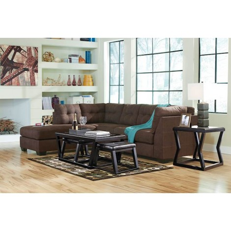 Maier Walnut Sectional Living Room Group