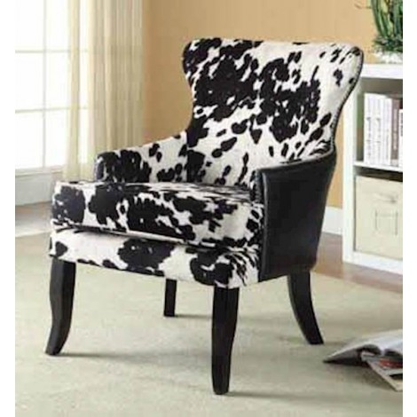 Black+White Accent Chair