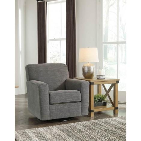 Alcona Linen Swivel Glider Accent Chair