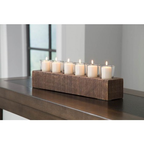 Cassandra Brown Candle Holder