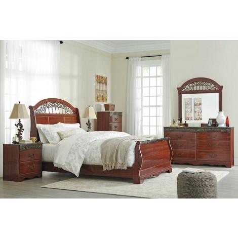 Fairbrooks Estate Reddish Brown Bedroom Set