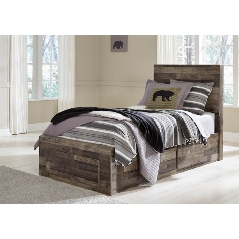 Derekson Multi Gray Twin/Full Under Bed Storage