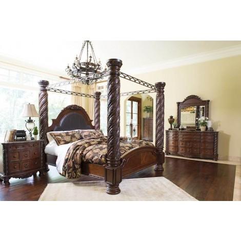 North Shore Dark Brown Bedroom Set