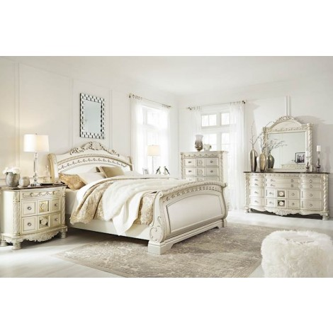 Cassimore Pearl Silver Bedroom Set