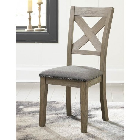 Aldwin Gray Dining Upholstered Side Chair (Includes 2)