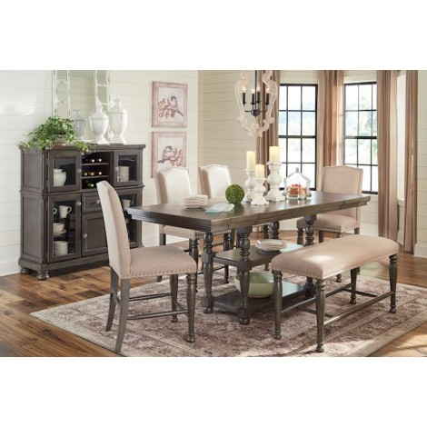 Audberry Dark Gray Dining Room Set