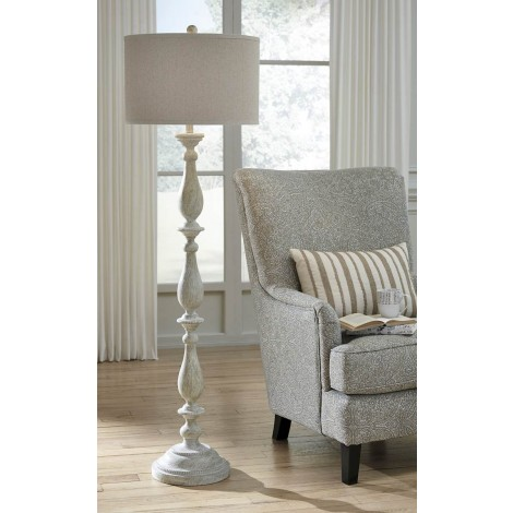 Bernadate Whitewash Poly Floor Lamp (Includes 1)