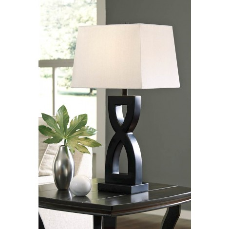 Amasai Black Poly Table Lamp (Includes 2)
