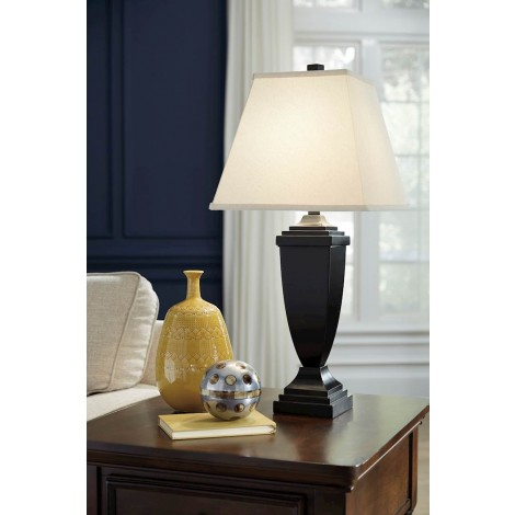 Amerigin Bronze Finish Poly Table Lamp (Includes 2)