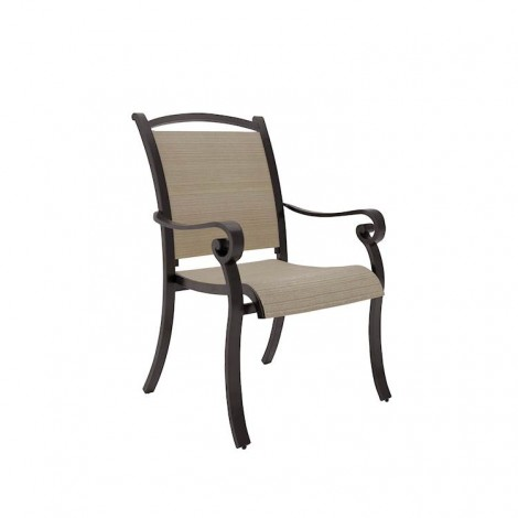 Bass Lake Beige/Brown Sling Chair (Includes 4)