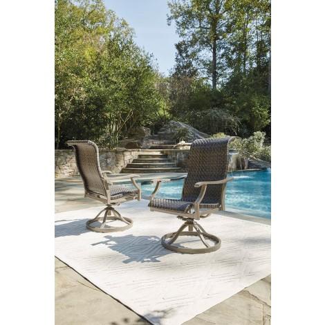 Windon Barn Brown Swivel Chair (Includes 2)