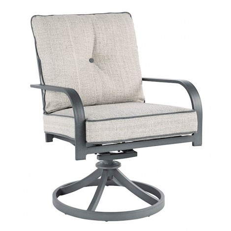 Donnalee Bay Dark Gray Swivel Lounge Chair (Includes 2)