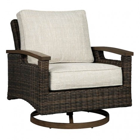 Paradise Trail Medium Brown Swivel Lounge Chair (Includes 2)