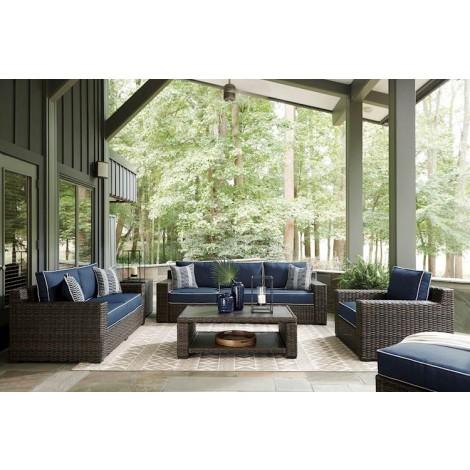 Grasson Lane Brown/Blue Patio Group