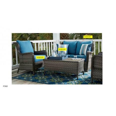 Abbots Court Blue/Gray Seat Cushion