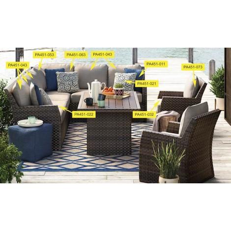 Salceda Beige/Brown Living Room Group