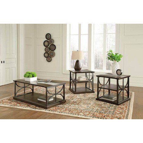 Carisbry Brown/Gray Occasional Table Set (Includes 3)