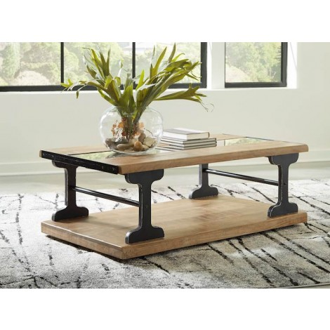 Calkosa Brown/Black Accent Table Set