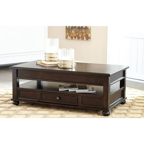 Barilanni Dark Brown Accent Table Set