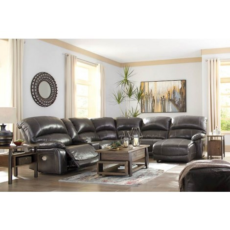 Hallstrung Gray Sectional Living Room Group