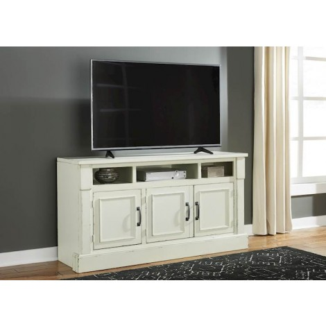 Blinton White TV Stand