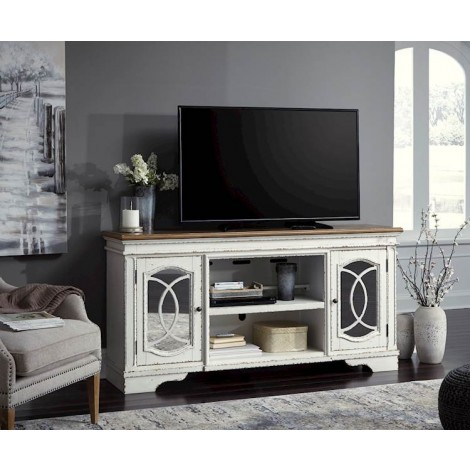 Realyn Chipped White Entertainment Unit