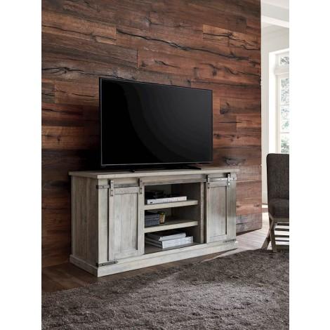 Carynhurst Whitewash Large TV Stand