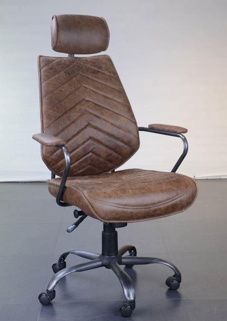 Antique Brown Leather Office Chair Speedyfurniture Com