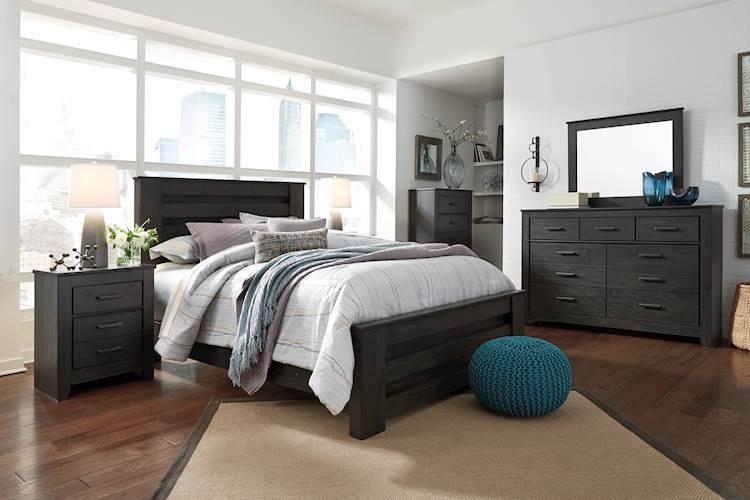 Brinxton Charcoal Bedroom Set - SpeedyFurniture.com