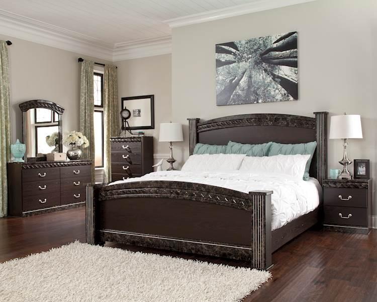 Vachel Dark Brown Bedroom Set - SpeedyFurniture.com