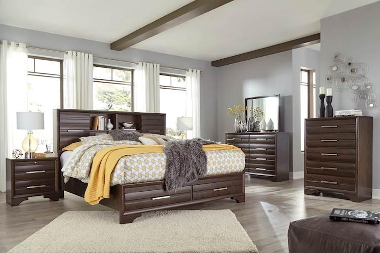 Andriel Dark Brown Bedroom Set - SpeedyFurniture.com