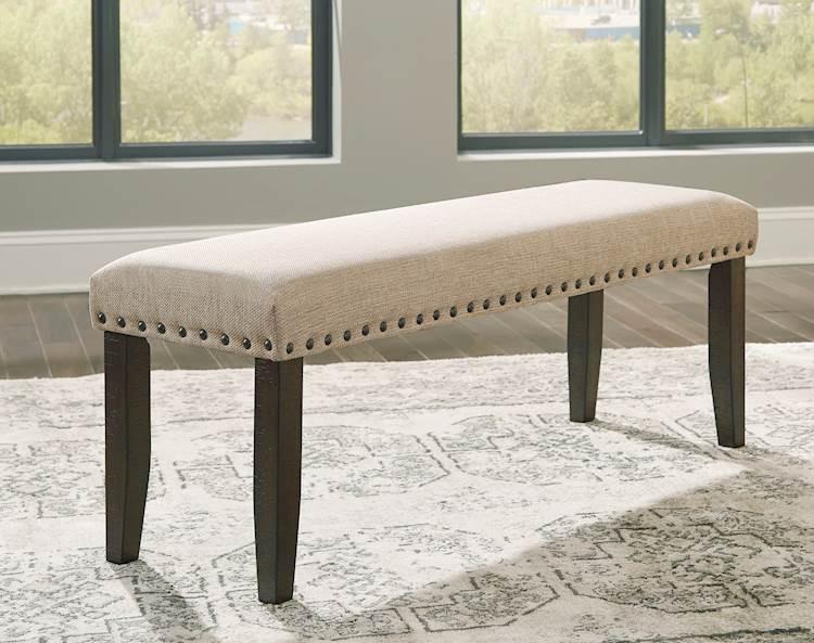 Rokane Brown Large Upholstered Dining Room Bench