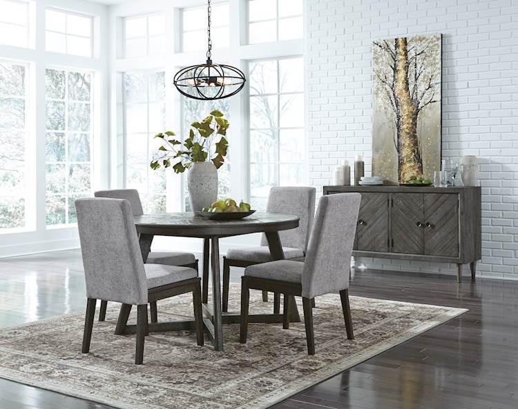 Besteneer Dark Gray Dining Room Set