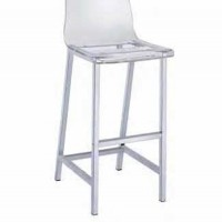 Clear Bar Height Stool