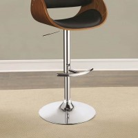 Black Pu Adjustable Bar Stool
