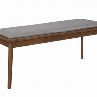 Gray Dining Room Bench