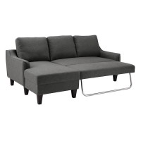 Jarreau Gray Sofa Chaise Sleeper