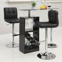 Glossy Black Bar Table