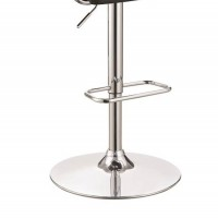 Black Adjustable Bar Stool