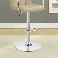 Beige Adjustable Bar Stool