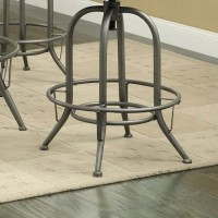 Graphite Adjustable Bar Stool