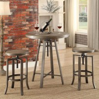 Medium Walnut Adjustable Bar Stool
