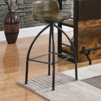 Cognac/Antique Black Bar Height Stool