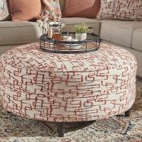 Amici Linen Oversized Accent Ottoman