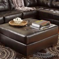 Alliston Chocolate Oversized Accent Ottoman