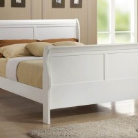 Louis Philippe White Full Bed