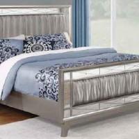 Leighton Metallic Full Bed