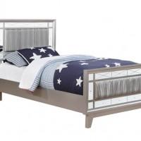 Leighton Metallic Twin Bed