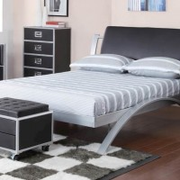 Leclair Black Twin Bed