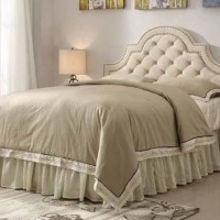 Beige Upholstered Headboard
